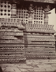 Hullabeed. The Great Temple. North-east angle. [Hoysaleshwara Temple, Halebid.]